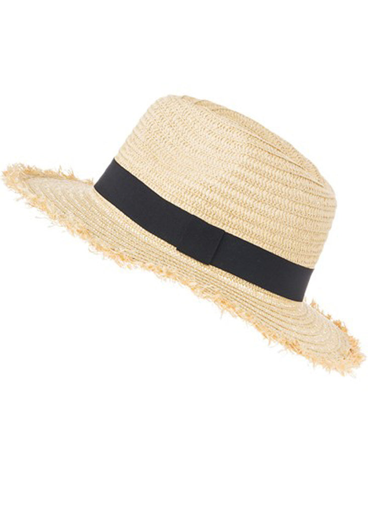 Black Sash Panama Hat