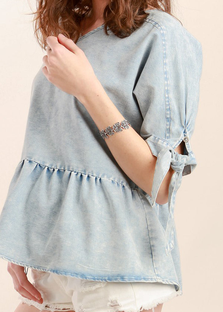 Baby Doll Denim Top