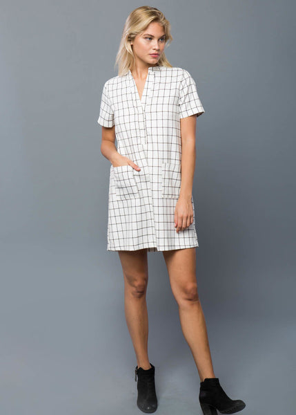 Windowpane Shift Dress