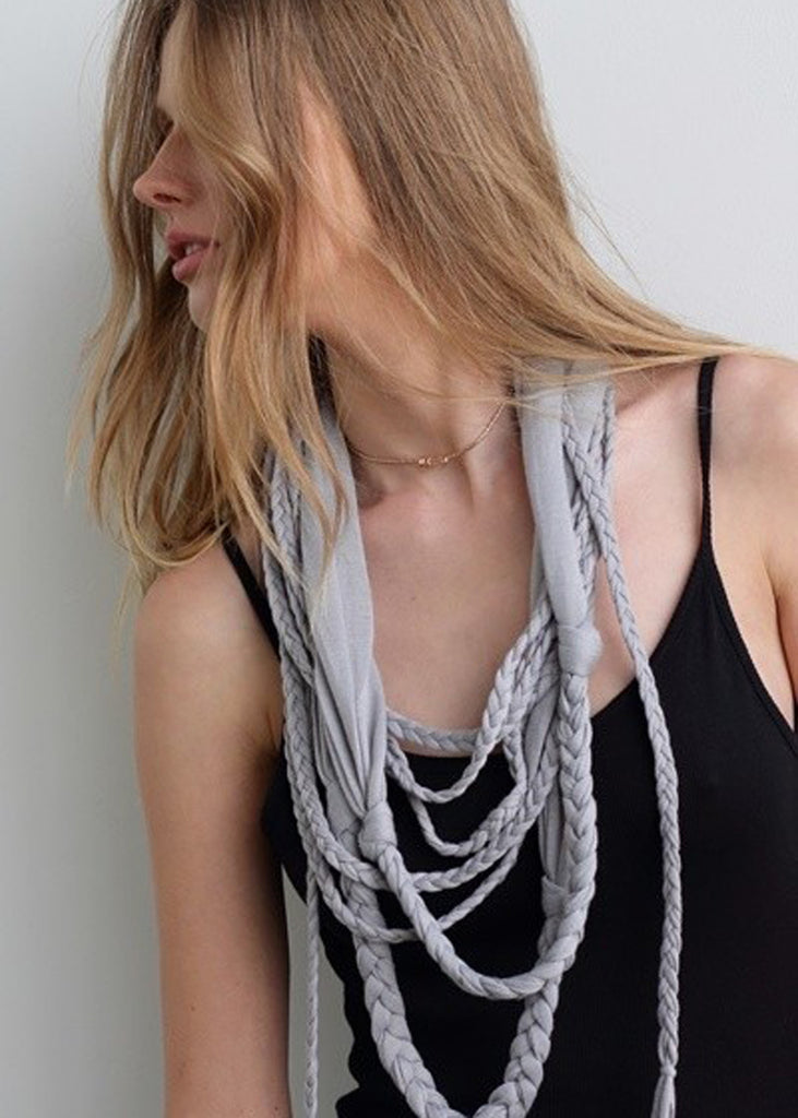 Jersey Braided Infinity Scarf