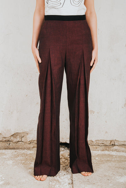 Henrica Langh - Wide organic cotton trousers