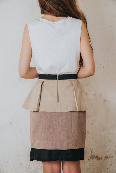 Henrica Langh - Organic cotton pleated peplum skirt