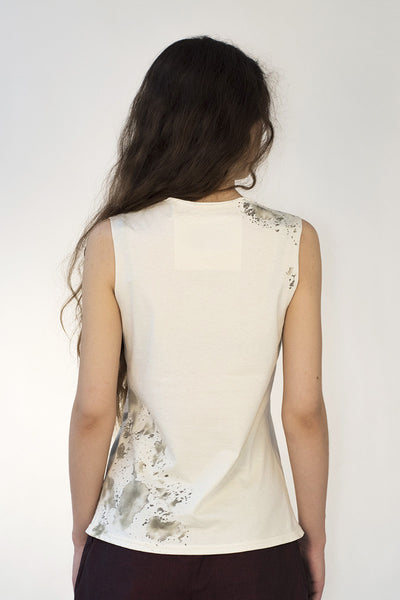 Pure organic cotton 'Oh the mortality' vest