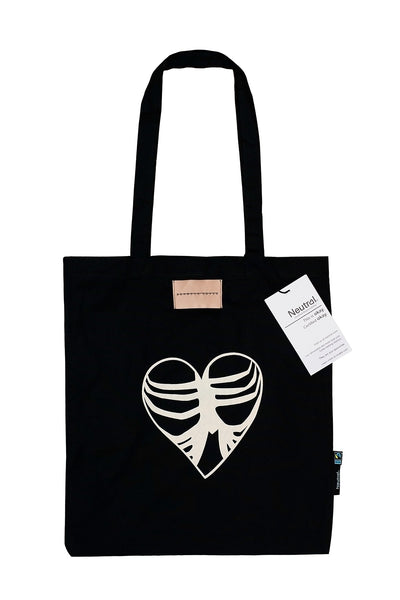 'Rib cage heart' tote bag