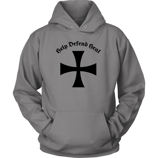 Teutonic Knight Medieval Font Hoodie
