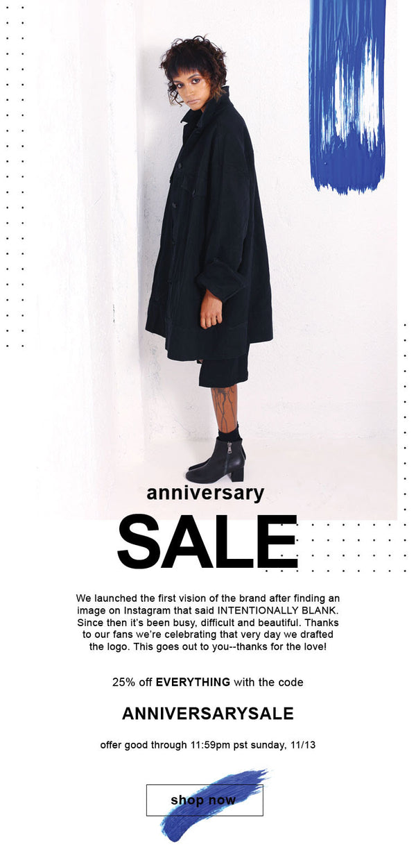 ANNIVERSARY SALE//THANK YOU