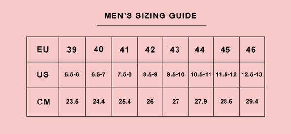 Intentionally Blank Men's Size Guide