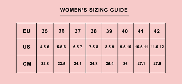 Intentionally Blank Women's Size guide