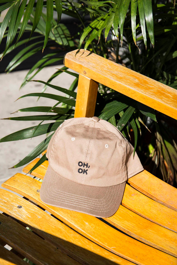 OH, OK Dad Cap Khaki/Black