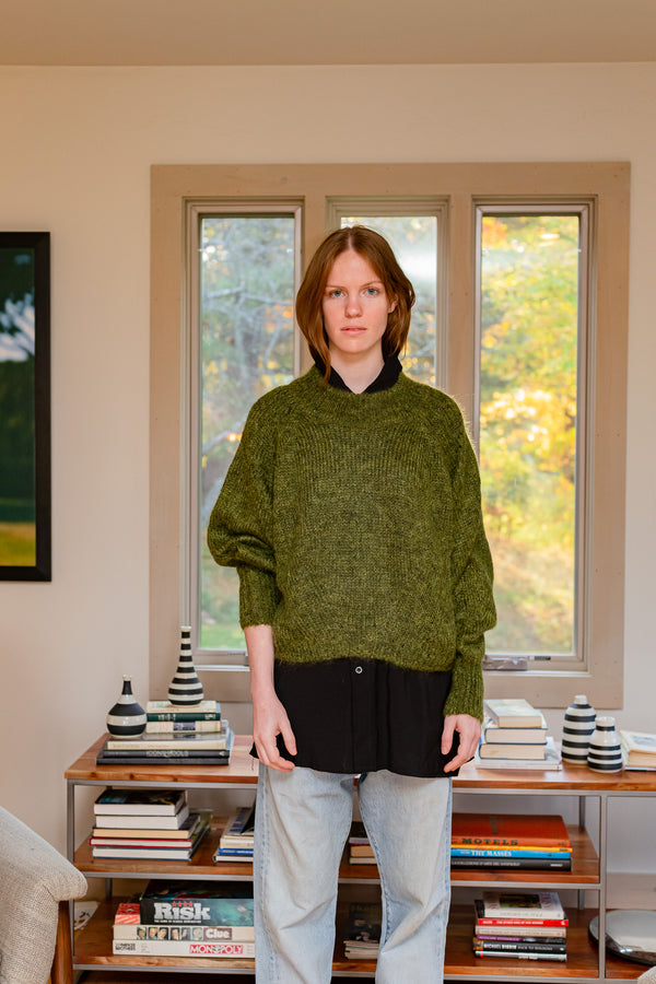 FAYE Mohair Sweater Forest