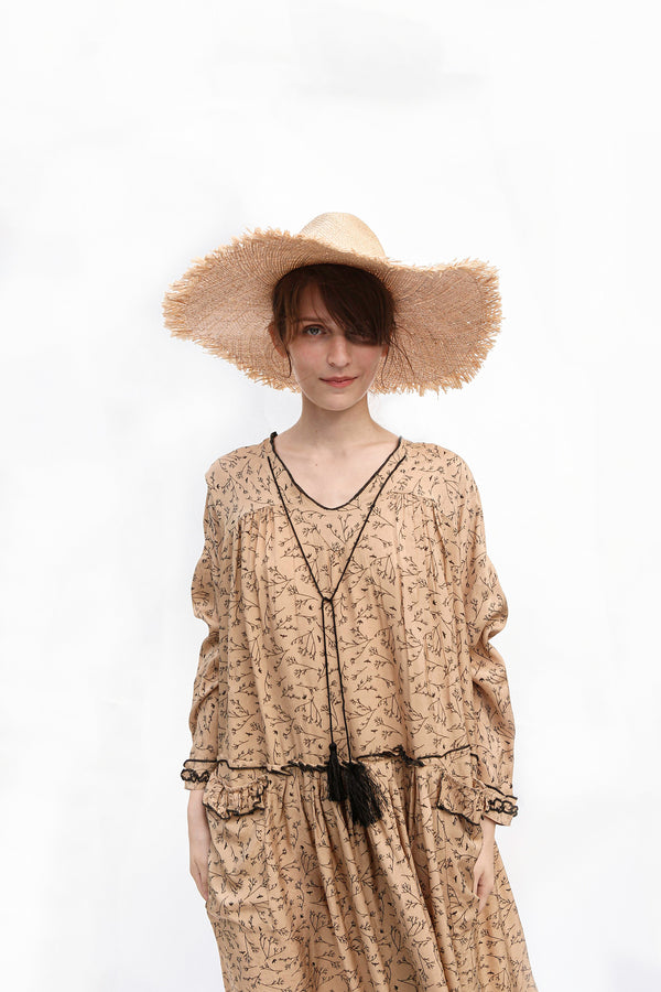 SIENNA Frayed Edge Straw Hat