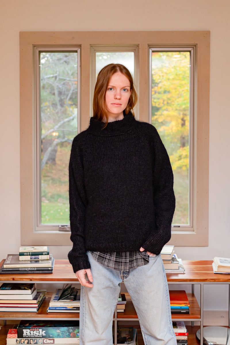 ROSSI Mohair Sweater Black