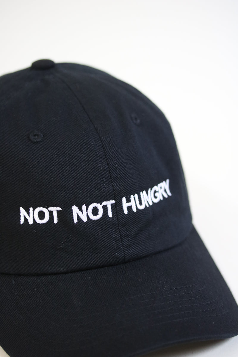 HUNGRY 24/7 Dad Cap Black/White