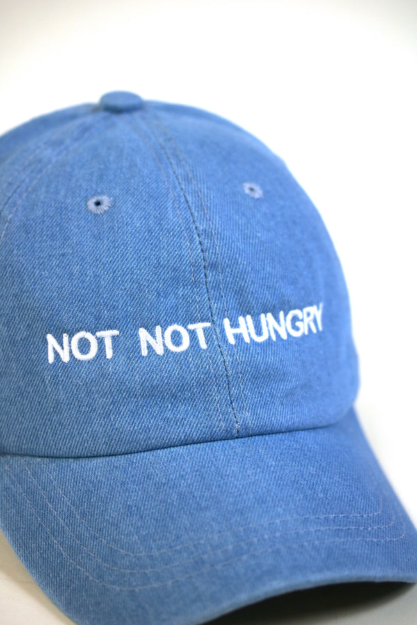 HUNGRY 24/7 Dad Cap Denim/White