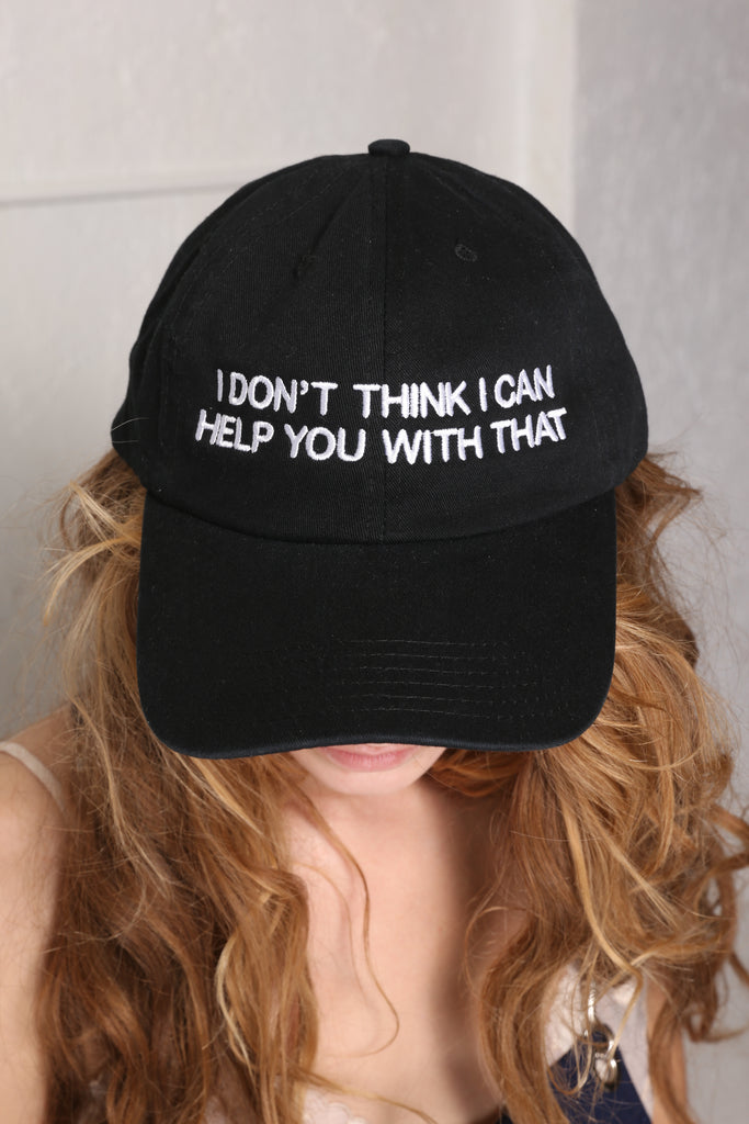 NOT MY PROBLEM  HAT BLK/WHT