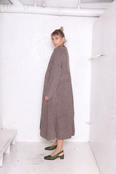 PRELL Long Cardigan Oatmeal