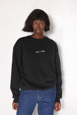 THEY // THEM Pullover Blk/Wht