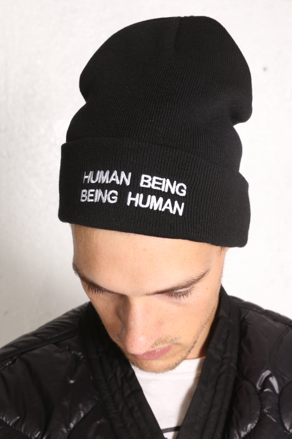 IT'S HUMAN NATURE Knit Beanie Black/White
