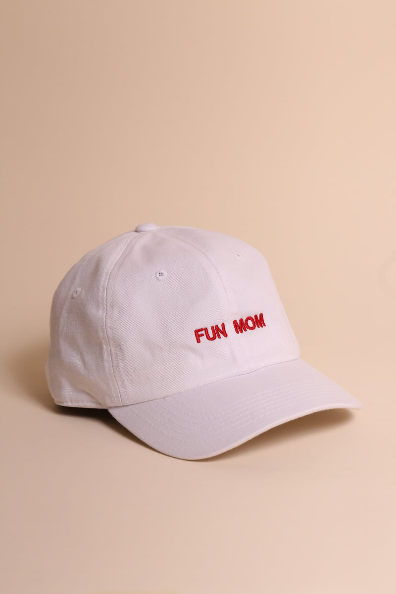 FUN MOM Dad Cap White/Red
