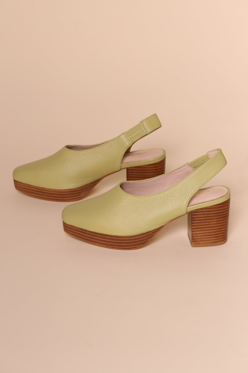 LOTUS Light Green Leather