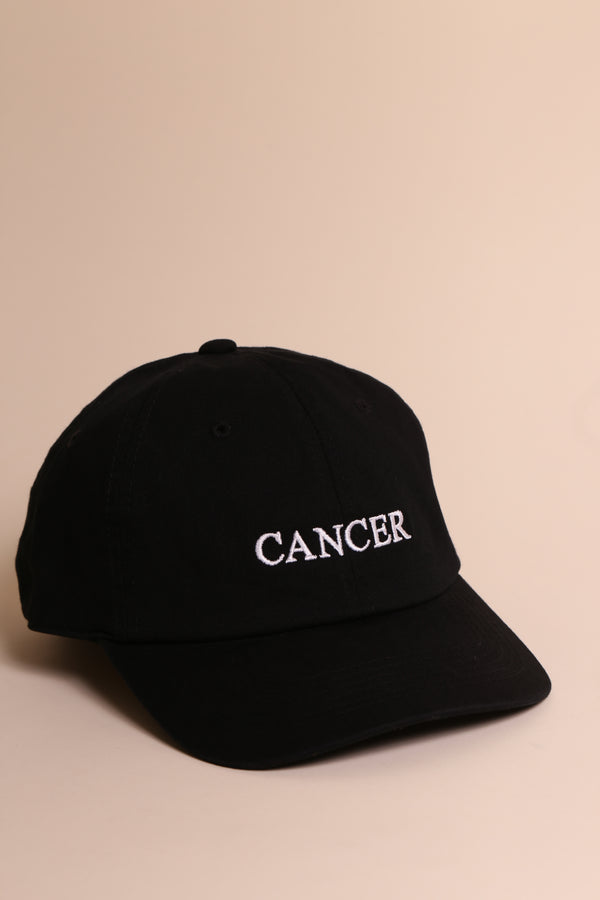 CANCER CAP blk/wht