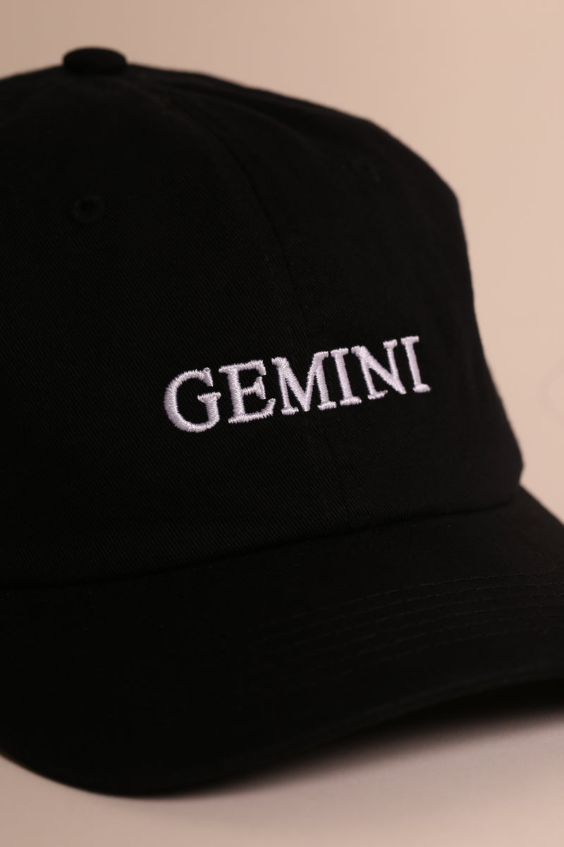 GEMINI CAP Dad Cap Black/White