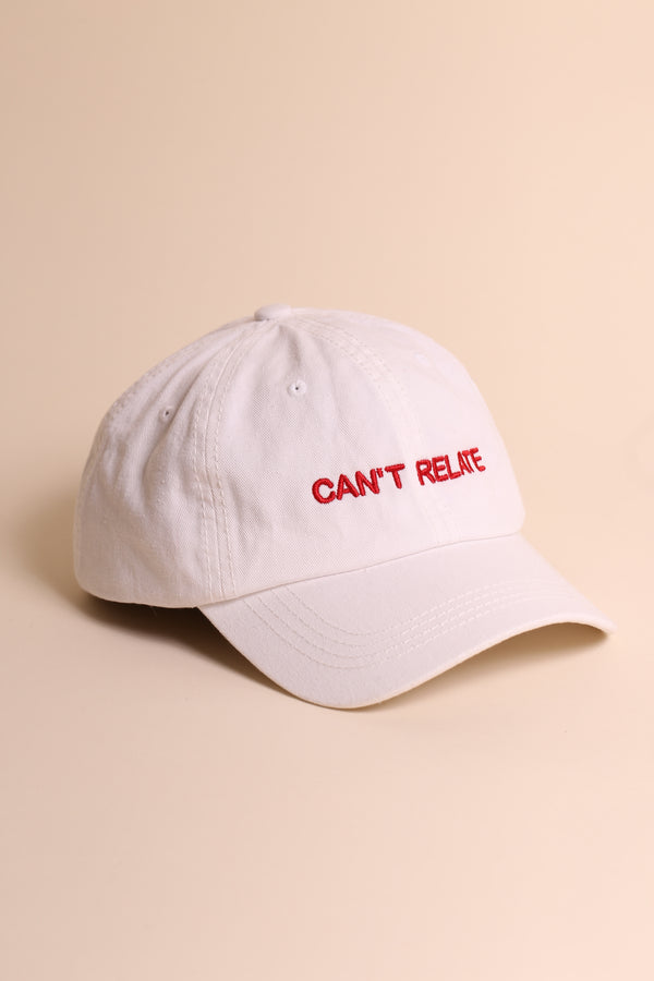 CAN'T RELATE Dad Cap White/Red