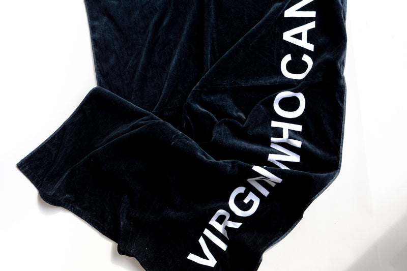 VIRGIN WHO CAN'T DRIVE BEACH TOWEL