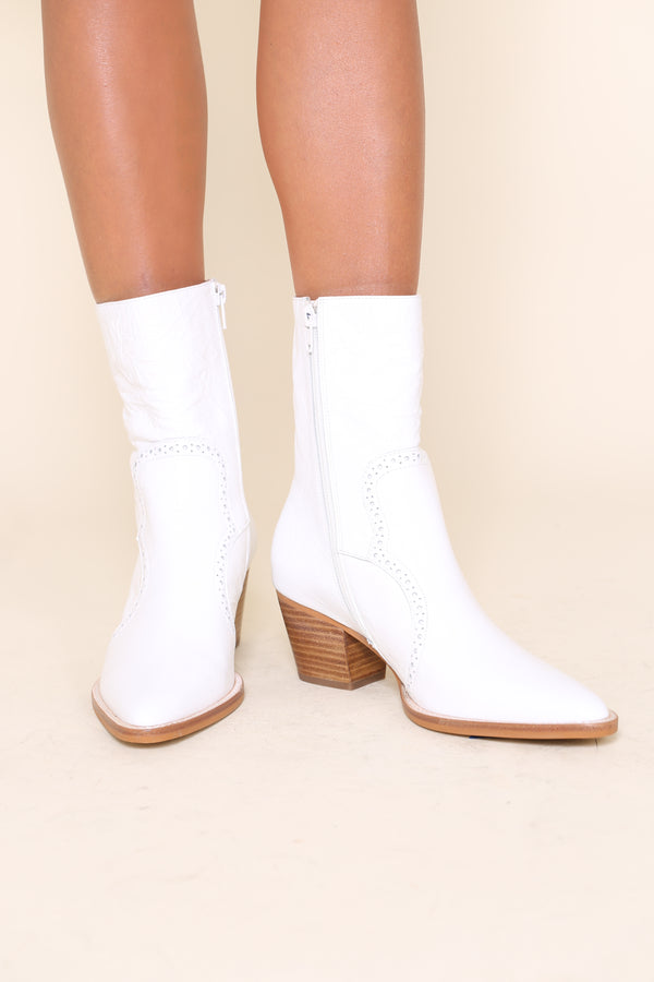 LOVER BOOT White Crinkle
