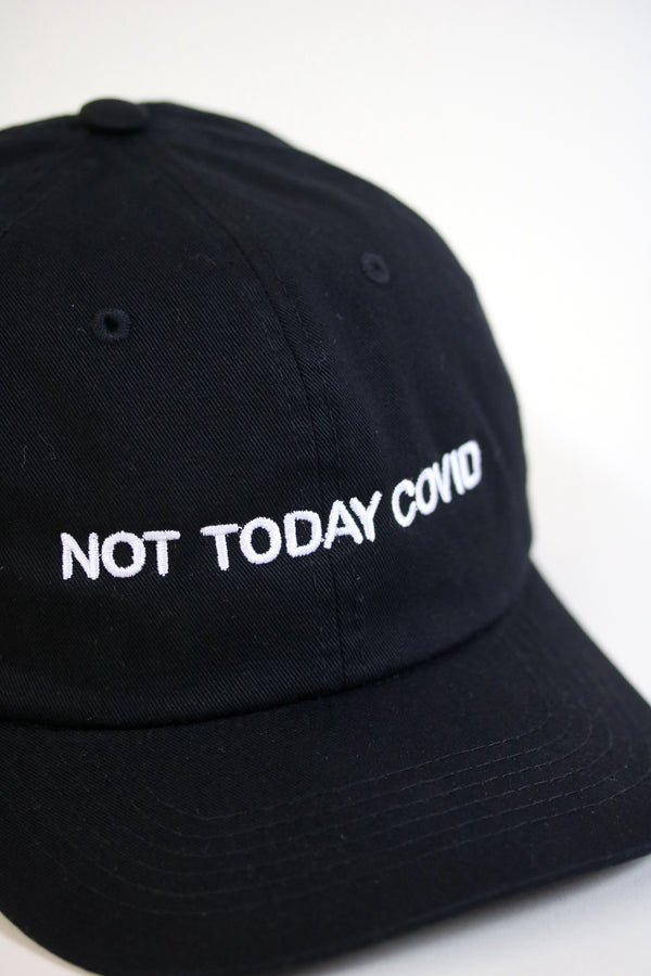 NOT TODAY Dad Cap Black/White