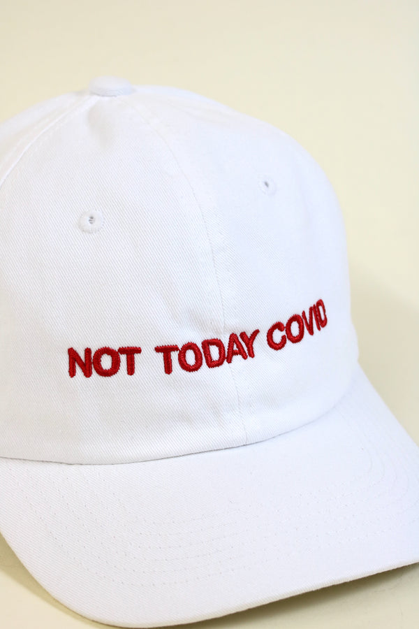 NOT TODAY Dad Cap White/Red