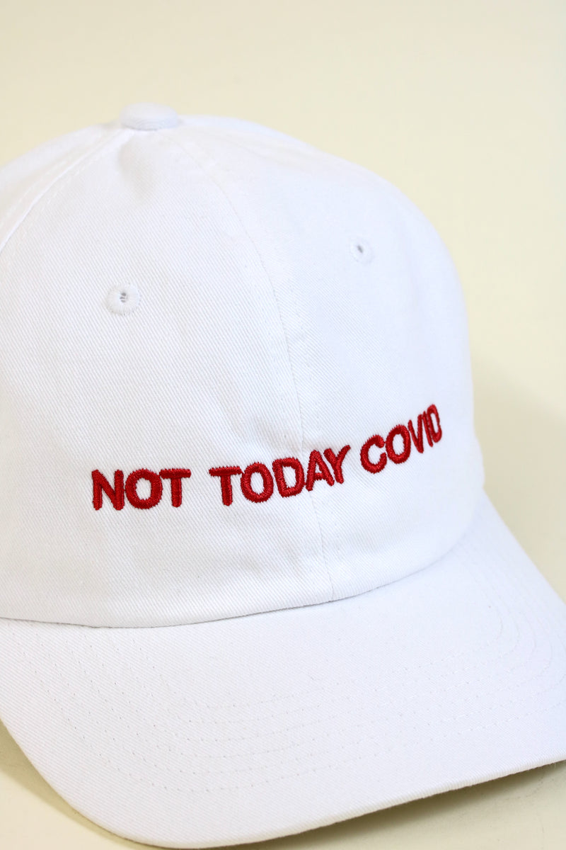 NOT TODAY Cap White/Red