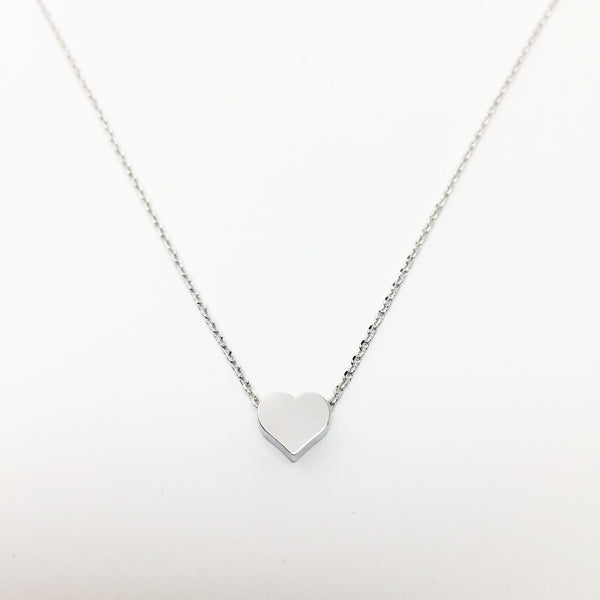 Matte Heart - Silver - As You Wish Co.