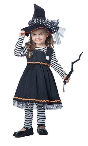 Crafty Little Witch-Child Costume - ExperienceCostumes.com