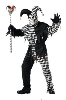 Evil Jester-Adult Costume