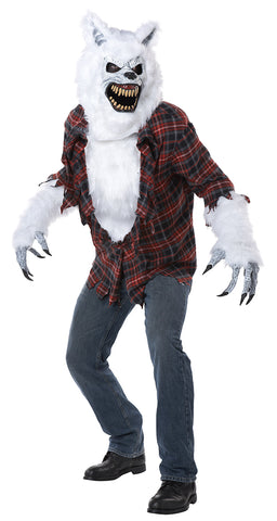 White Lycan Ani-Motion Costume-Adult