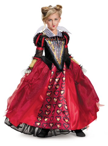 Alice Through the Looking Glass-Red Queen Deluxe Child Costume - ExperienceCostumes.com
