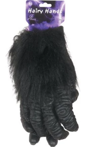 Deluxe Hairy Hands-Adult Costume Accessory