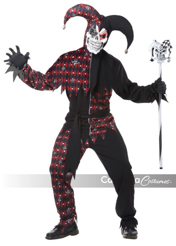 Sinister Jester-Adult Costume