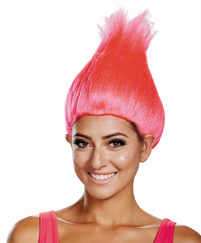 Hot Pink Troll Wig-Adult