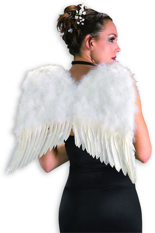 DLX WHITE FEATHER WINGS