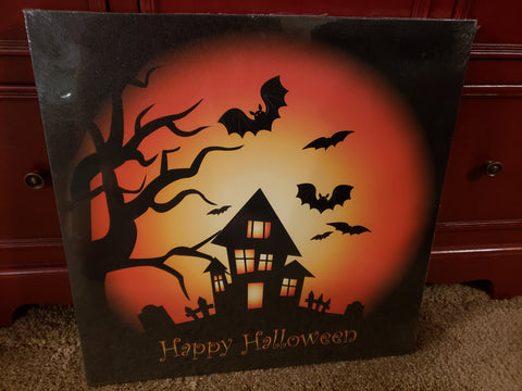 Light Up Canvas Picture-Halloween Decor