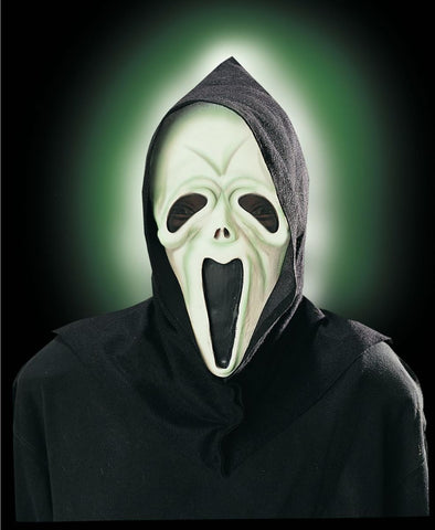 Glow in Dark Shocked Ghost Mask-Adult