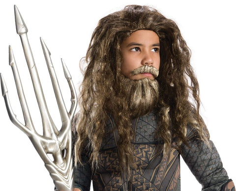 Aquaman Beard & Wig Set-Child