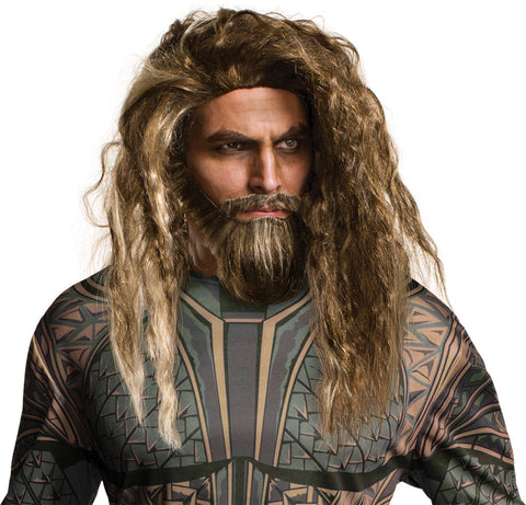 Aquaman Beard & Wig Set-Adult