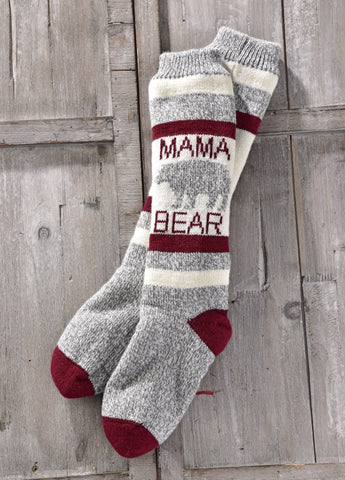Mama Bear Sherpa Slipper Sock