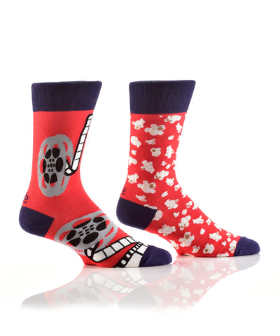 Silly Socks Movies & Popcorn-Mens
