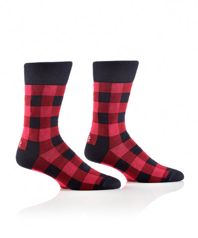 Silly Socks Buffalo Plaid-Mens