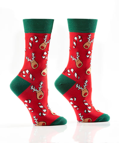 Silly Socks Sweet Rudolph Christmas-Womens