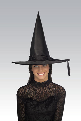 Satin Witch Hat-Adult